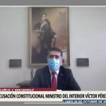 Ministro de Defensa expone ante comisión revisora de la Acusación Constitucional contra Víctor Pérez