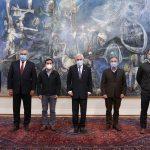 """Presidentes de ChileVamos se reúnen con Piñera en La Moneda: """"Hemos dado una muestra de unidad"""""""