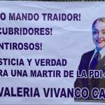 Familia de Valeria Vivanco exige justicia para la joven detective durante la Parada Militar